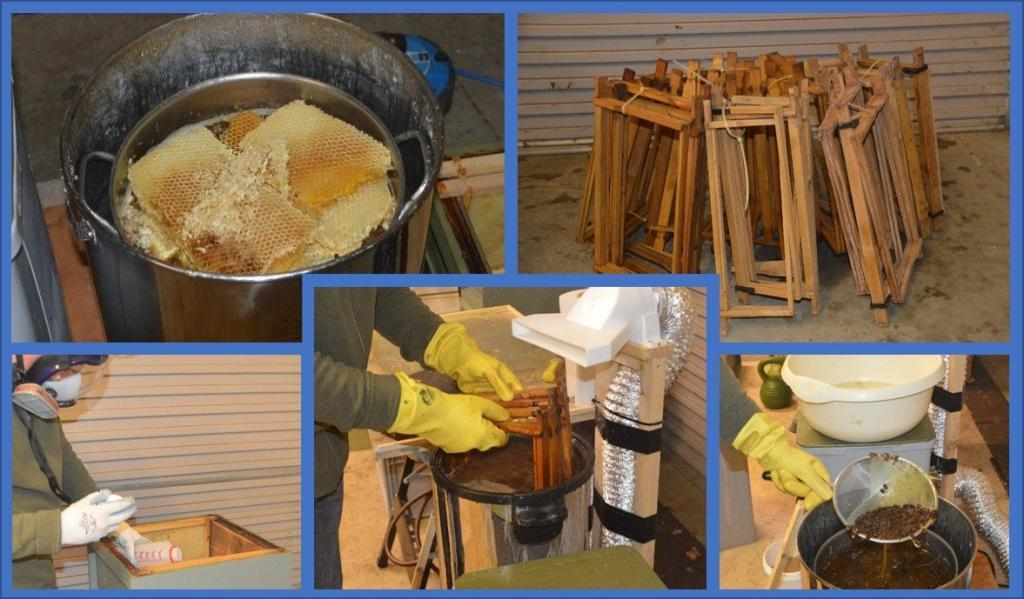 Cleaning & Sterilisation for small-scale beekeepers – Part Three – Recovering Wax & Frames